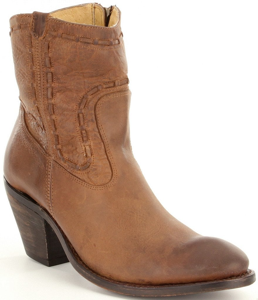 Justin Boots Stonewashed Woven Cord Booties