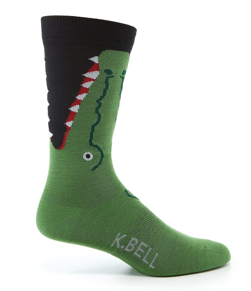 K. Bell Alligator Leg-Eater Crew Socks