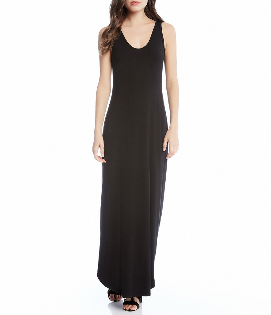 Karen Kane Adjustable Zipper Side Slit Maxi Dress