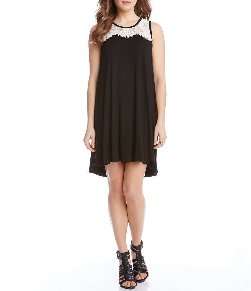 Karen Kane Lace Yoke Trapeze Dress