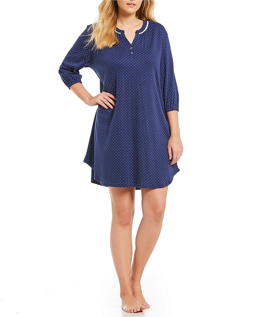Karen Neuburger Plus Polka Dot Sleepshirt