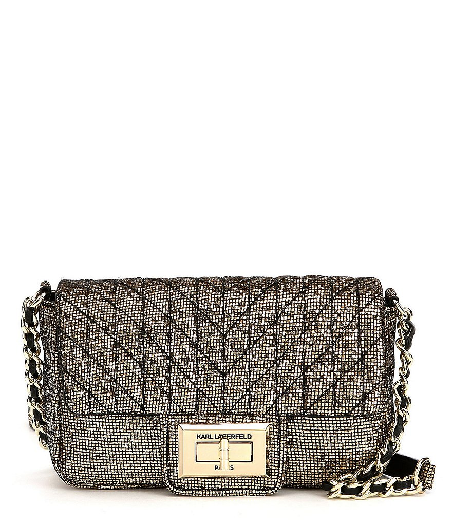 KARL LAGERFELD PARIS Agyness Glitter Shoulder Bag