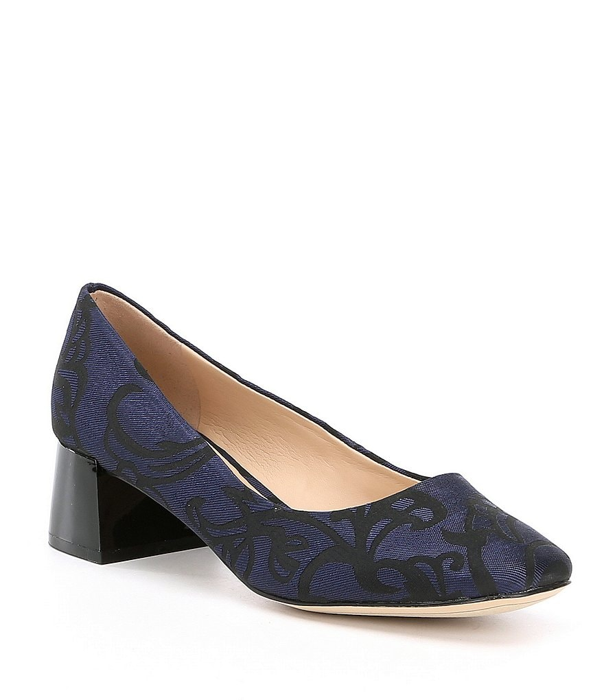KARL LAGERFELD PARIS Charee2 Floral Brocade Block Heel Pumps