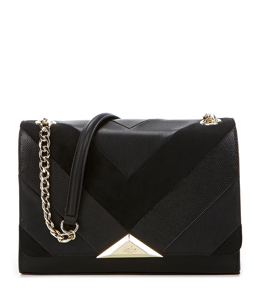 KARL LAGERFELD PARIS Chevron Patch Shoulder Bag