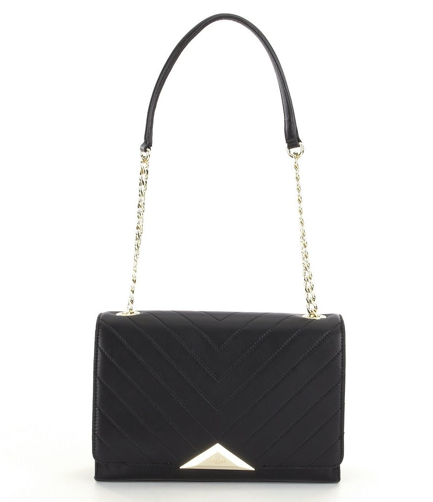 KARL LAGERFELD PARIS Gigi Chevron-Quilted Chain-Strap Shoulder Bag