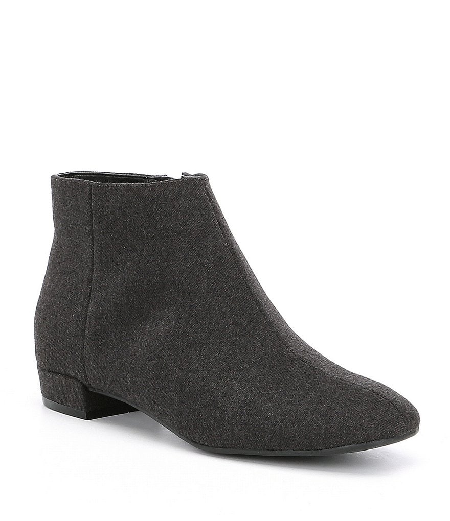 KARL LAGERFELD PARIS Ilayna2 Flannel Block Heel Booties