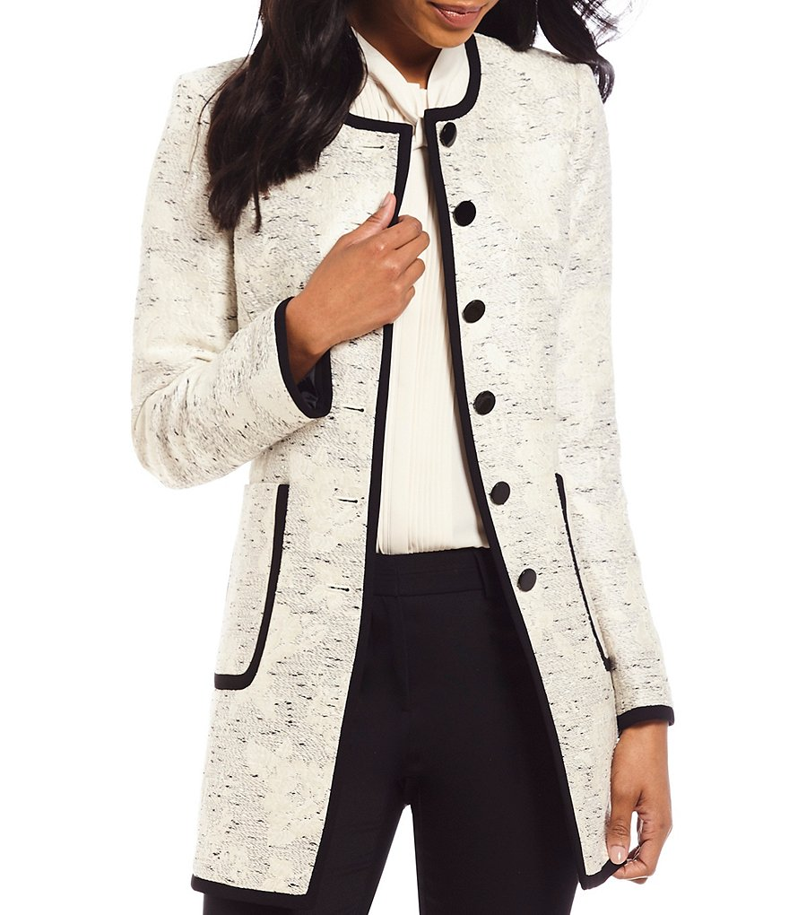 KARL LAGERFELD PARIS Jacquard Topper Jacket