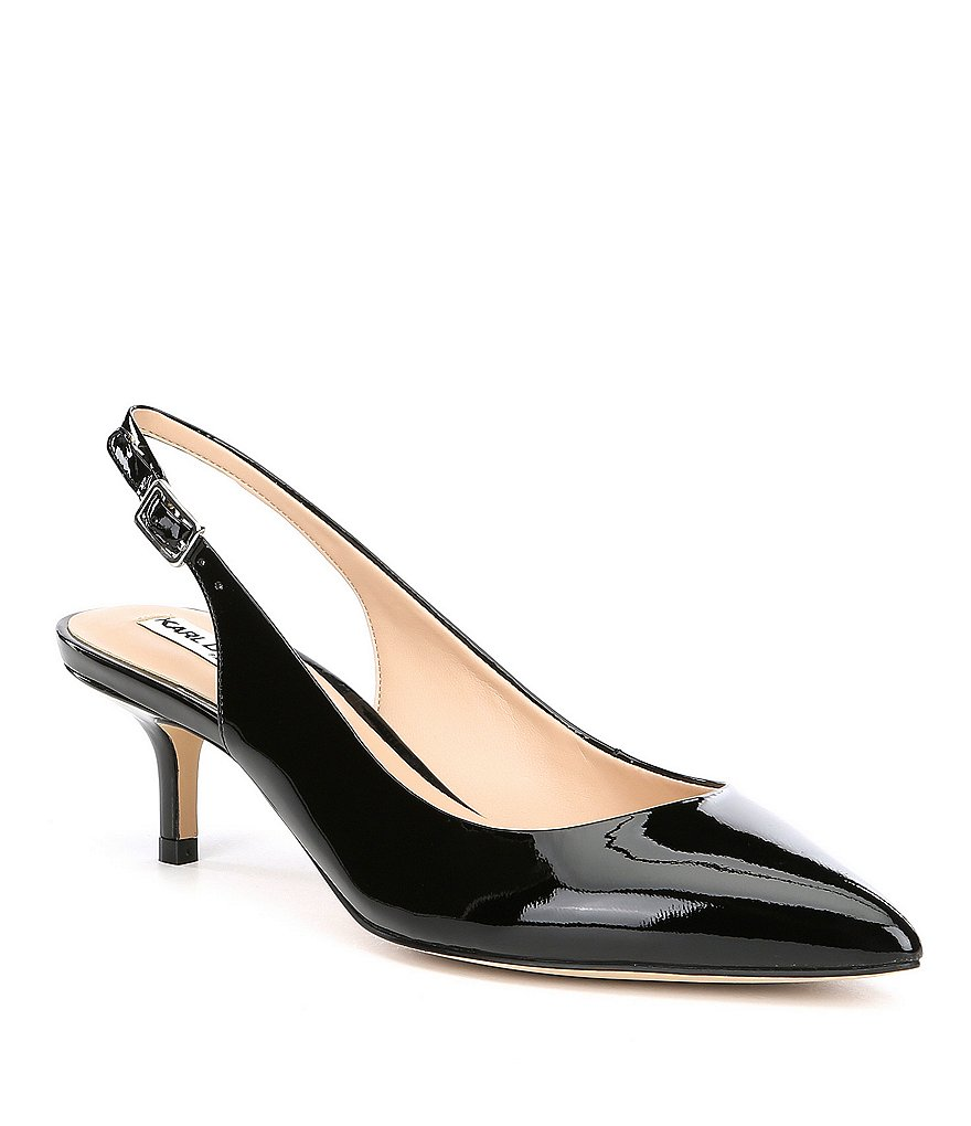 KARL LAGERFELD PARIS Lily Patent Leather Slingback Pumps