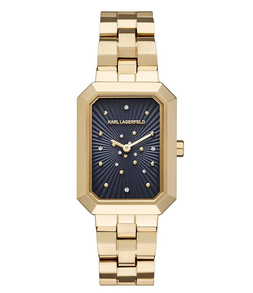 KARL LAGERFELD PARIS Linda Gold-Tone Two-Hand Watch
