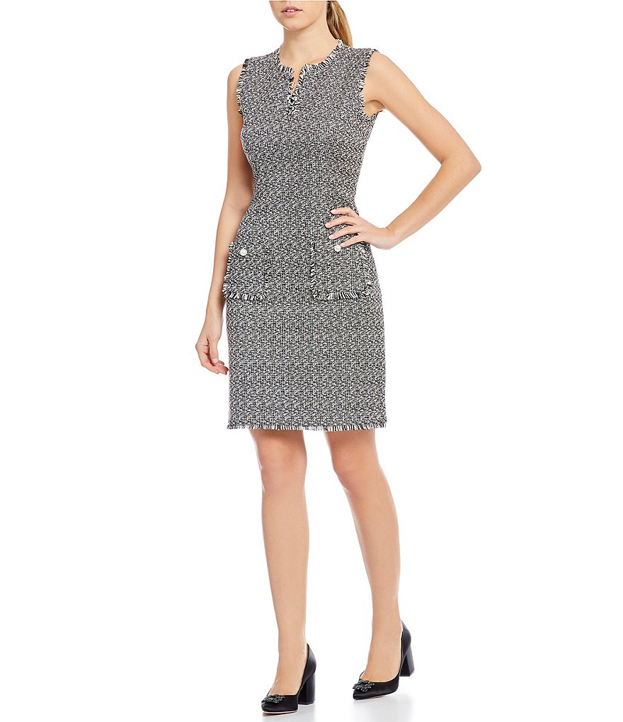 KARL LAGERFELD PARIS Tweed Shift Dress