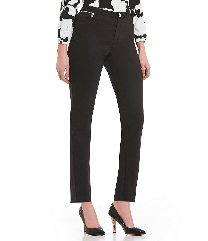 KARL LAGERFELD PARIS Zipper Compression Skinny Pant