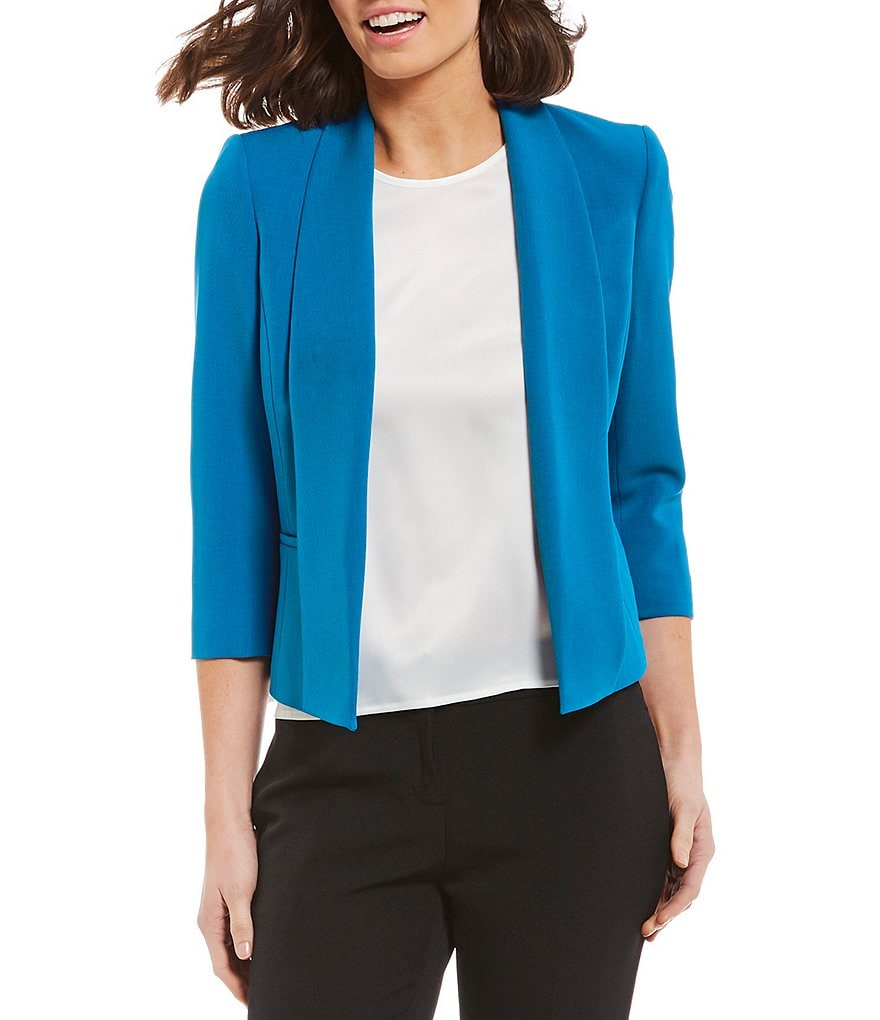 Kasper Petite Crepe Fly Away Jacket
