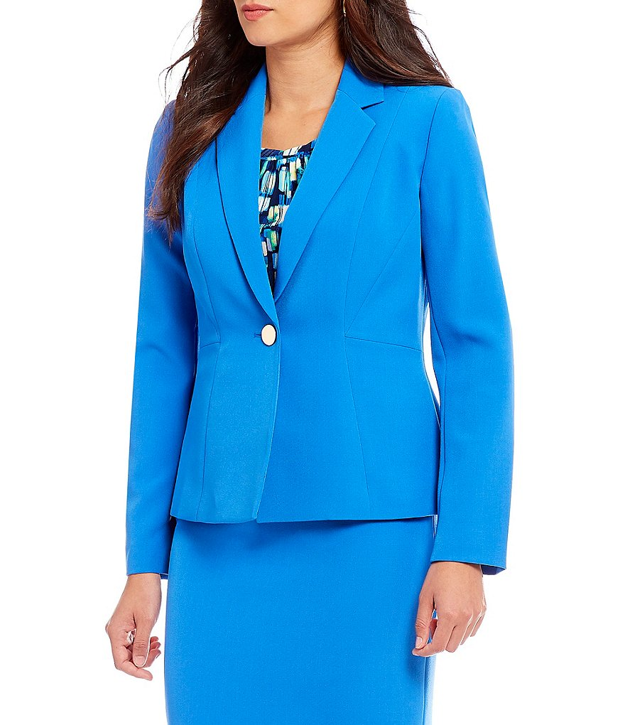 Kasper Petite Notch Lapel Jacket