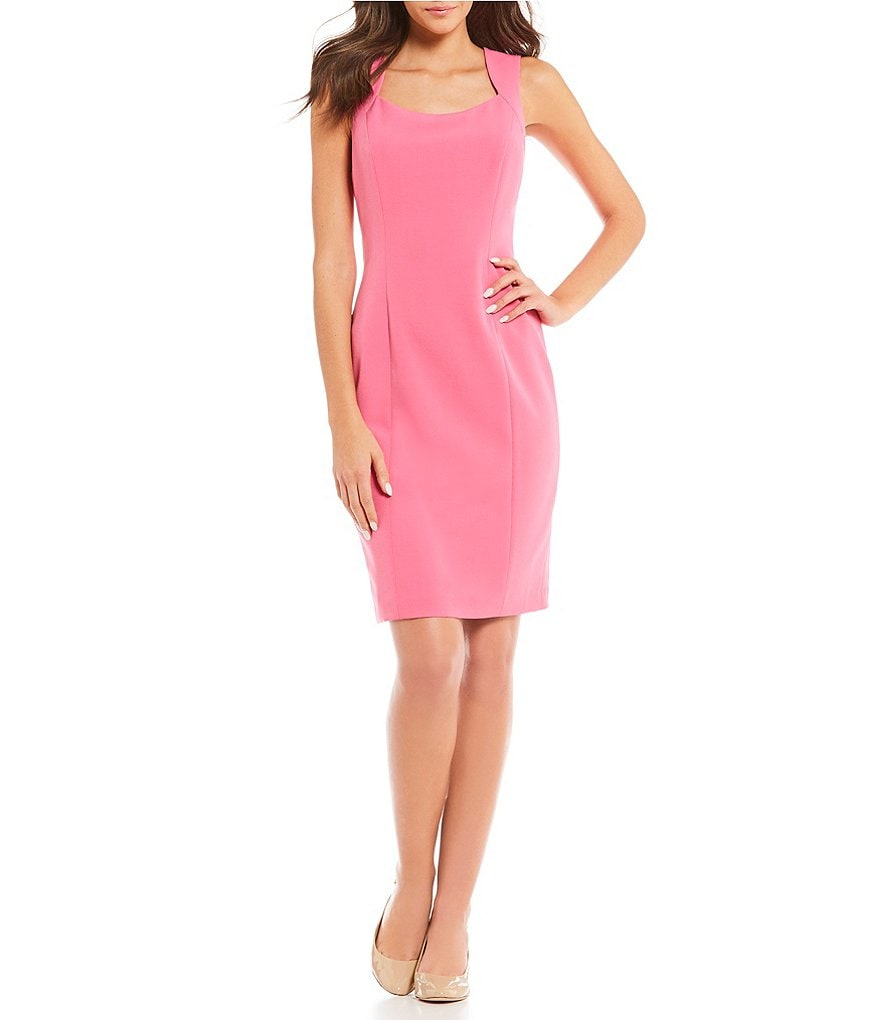 Kasper Petite Stretch Crepe Sheath Dress