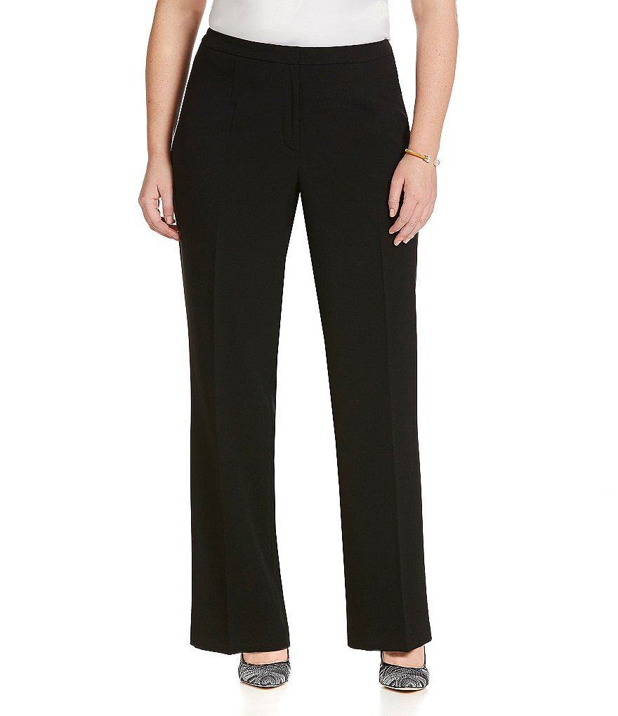 Kasper Plus Stretch Crepe Pants