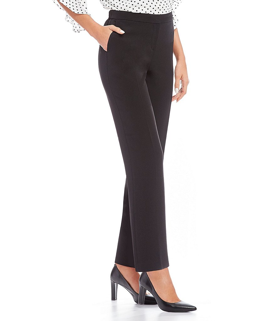 Kasper Stretch Crepe Solid Pant
