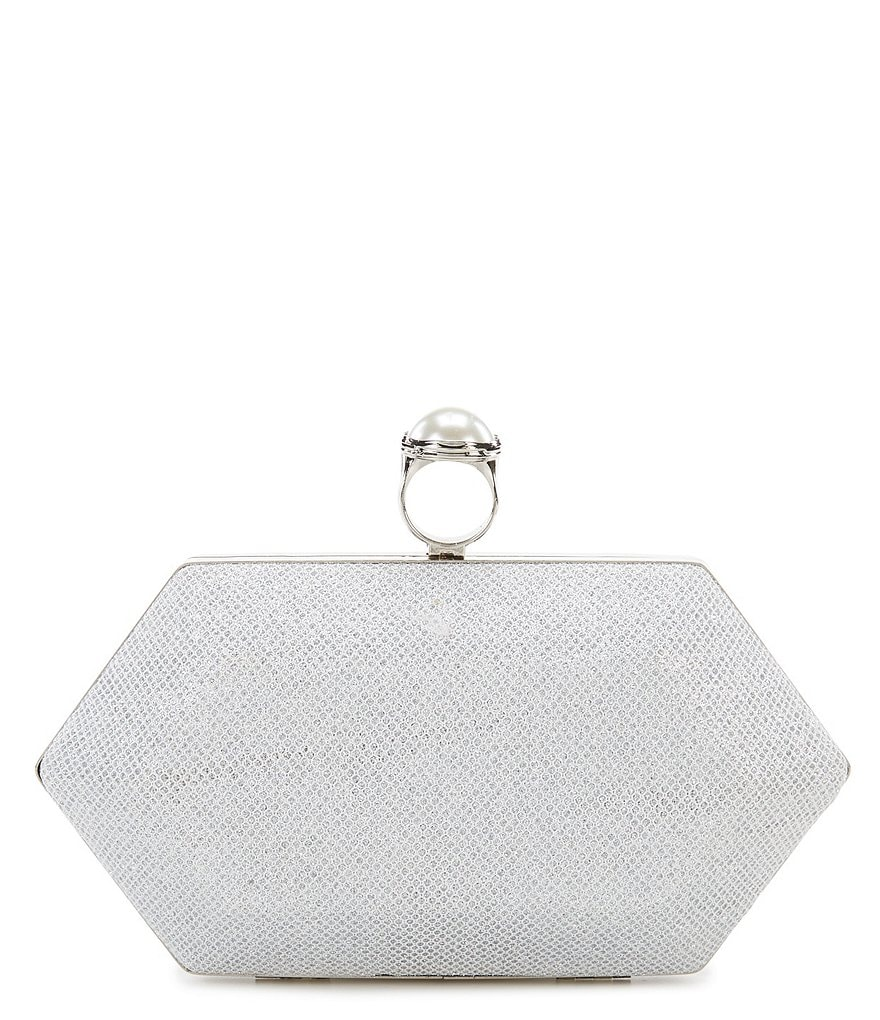 Kate Landry Ring-Top Angular Clutch