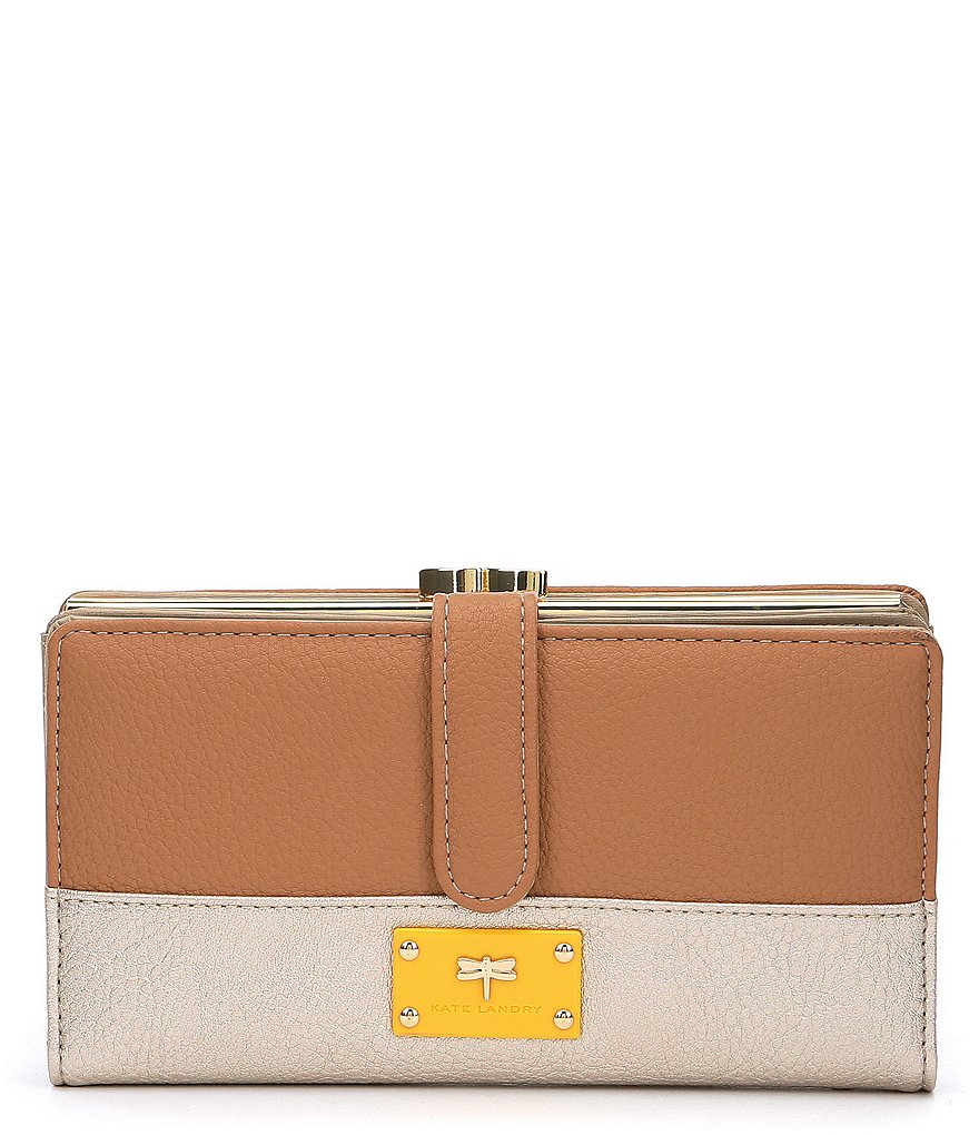 Kate Landry Troy Colorblock Large Checkbook Wallet