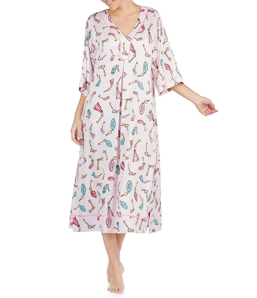 kate spade new york Printed Charmeuse Caftan