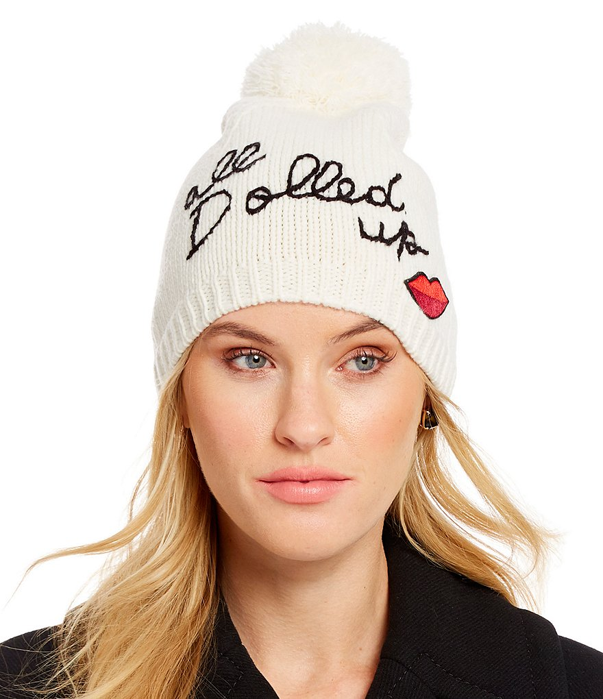 kate spade new york All Dolled Up Beanie with Pom
