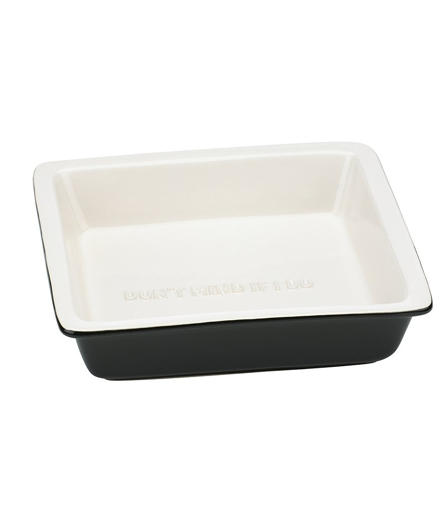 kate spade new york All in Good Taste Don't Mind If I Do Square Stoneware Baking Dish