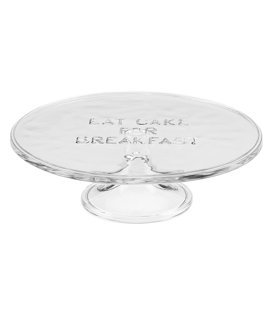 kate spade new york All in Good Taste Eat Cake for Breakfast Glass Cake Plate