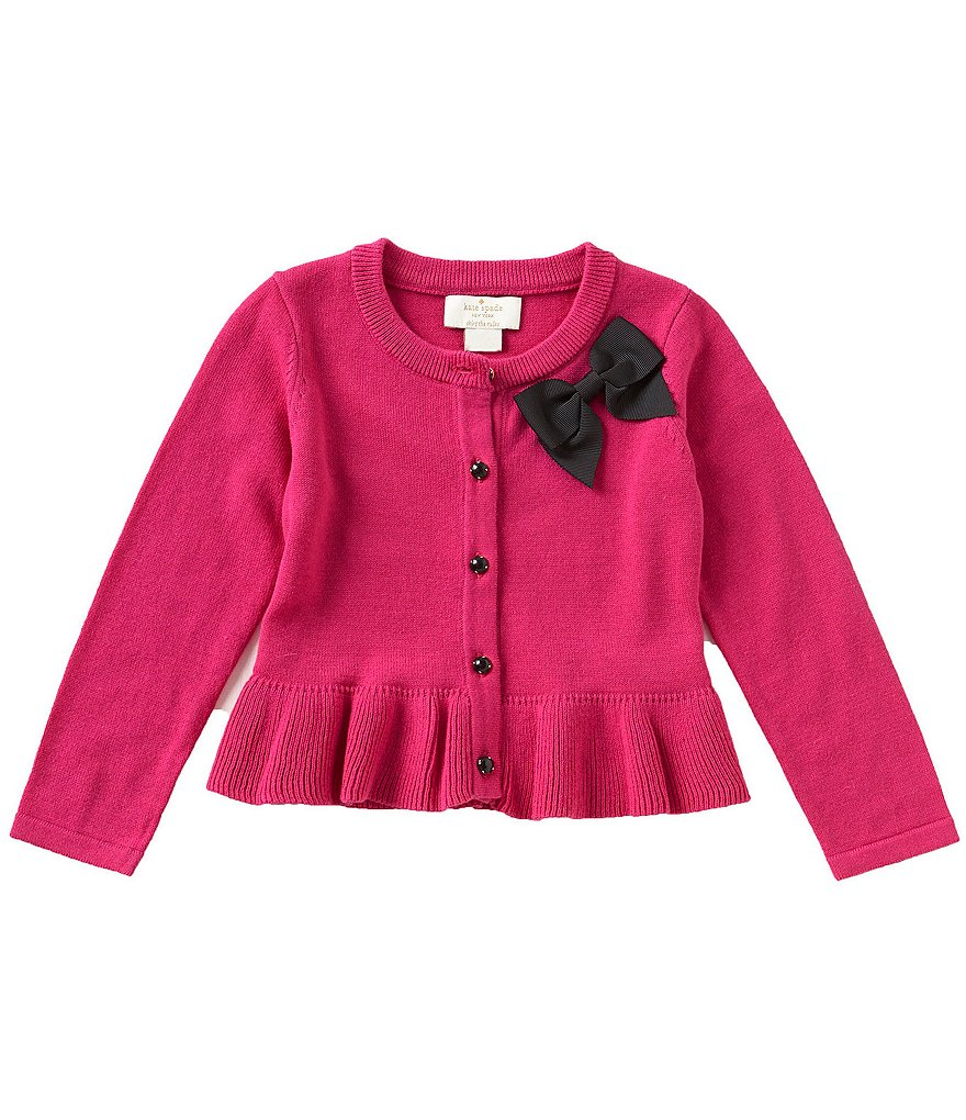 kate spade new york Baby Girls 12-24 Months Bow Peplum Cardigan