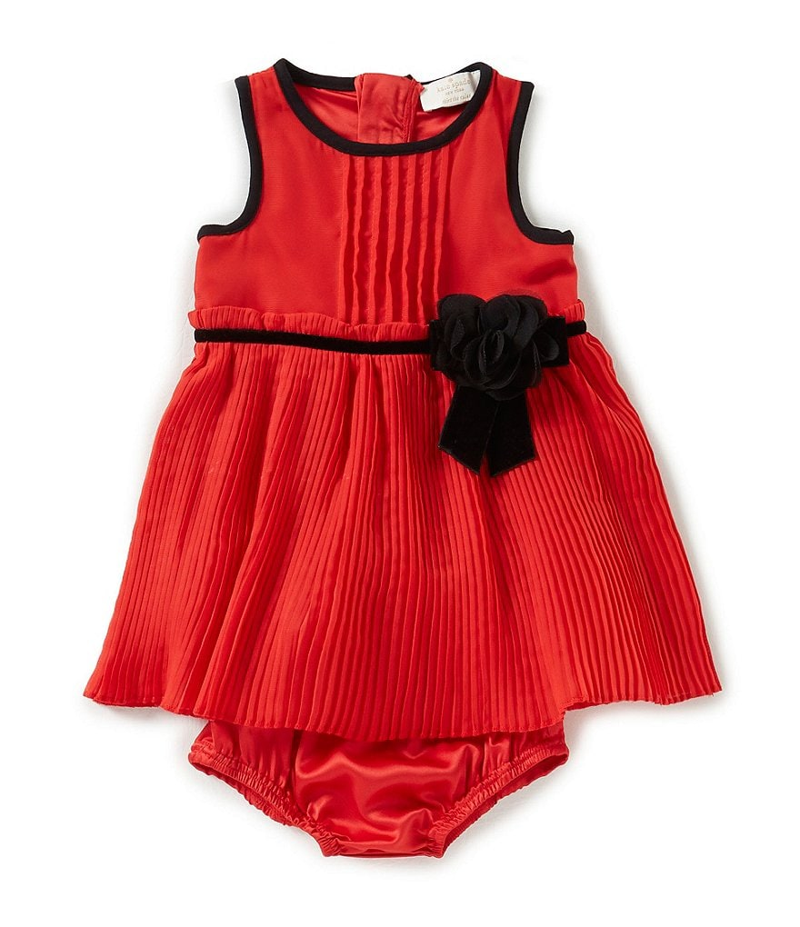 kate spade new york Baby Girls 12-24 Months Chiffon Pleated Dress