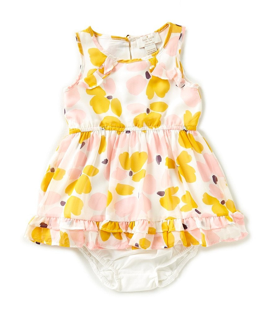 kate spade new york Baby Girls 12-24 Months Chiffon Ruffle-Hem Dress