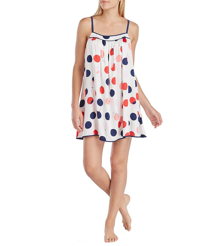 kate spade new york Balloon-Print Charmeuse Chemise