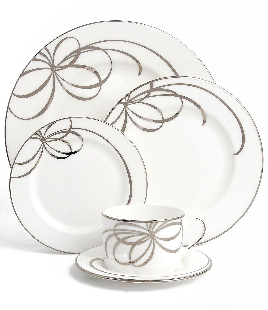 kate spade new york  sc 1 st  Dillardu0027s & kate spade new york Belle Boulevard Bow Platinum China | Dillards