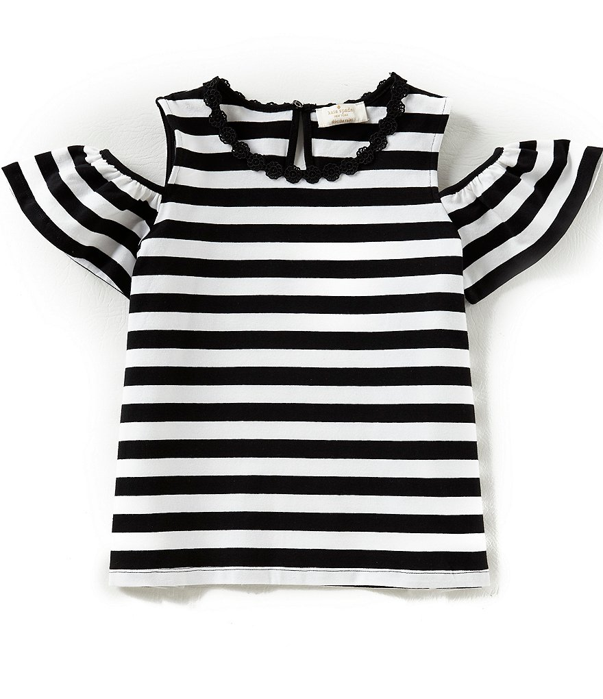 kate spade new york Big Girls 7-14 Cold-Shoulder Striped Top