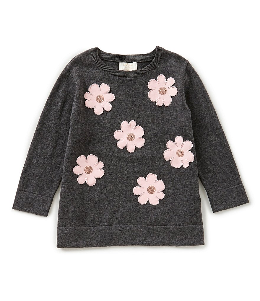 kate spade new york Big Girls 7-14 Floral-Embroidered Sweater