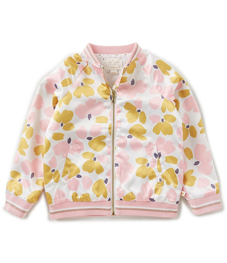 kate spade new york Big Girls 7-14 Printed Bomber Jacket