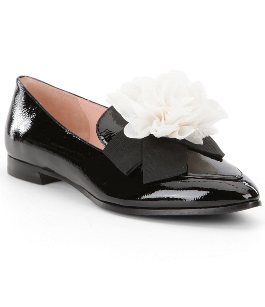 kate spade new york Cinda Patent Leather Flower Detail Loafers