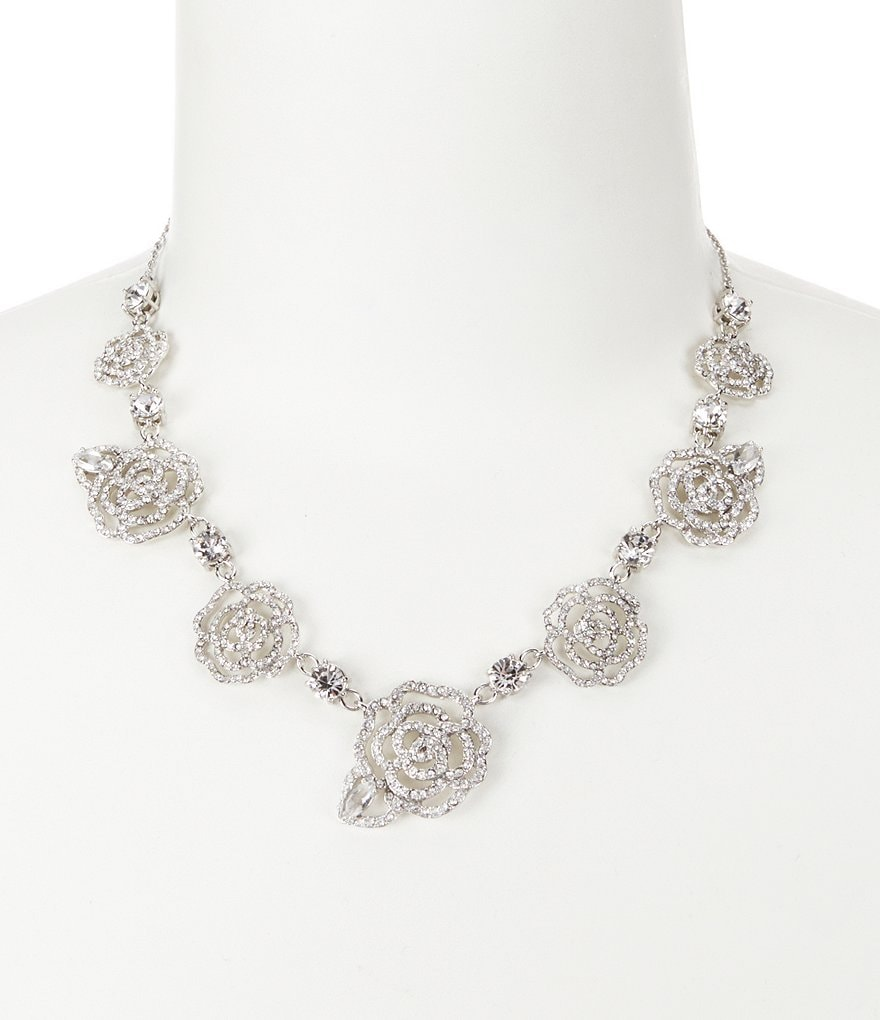 kate spade new york Crystal Rose Collar Necklace