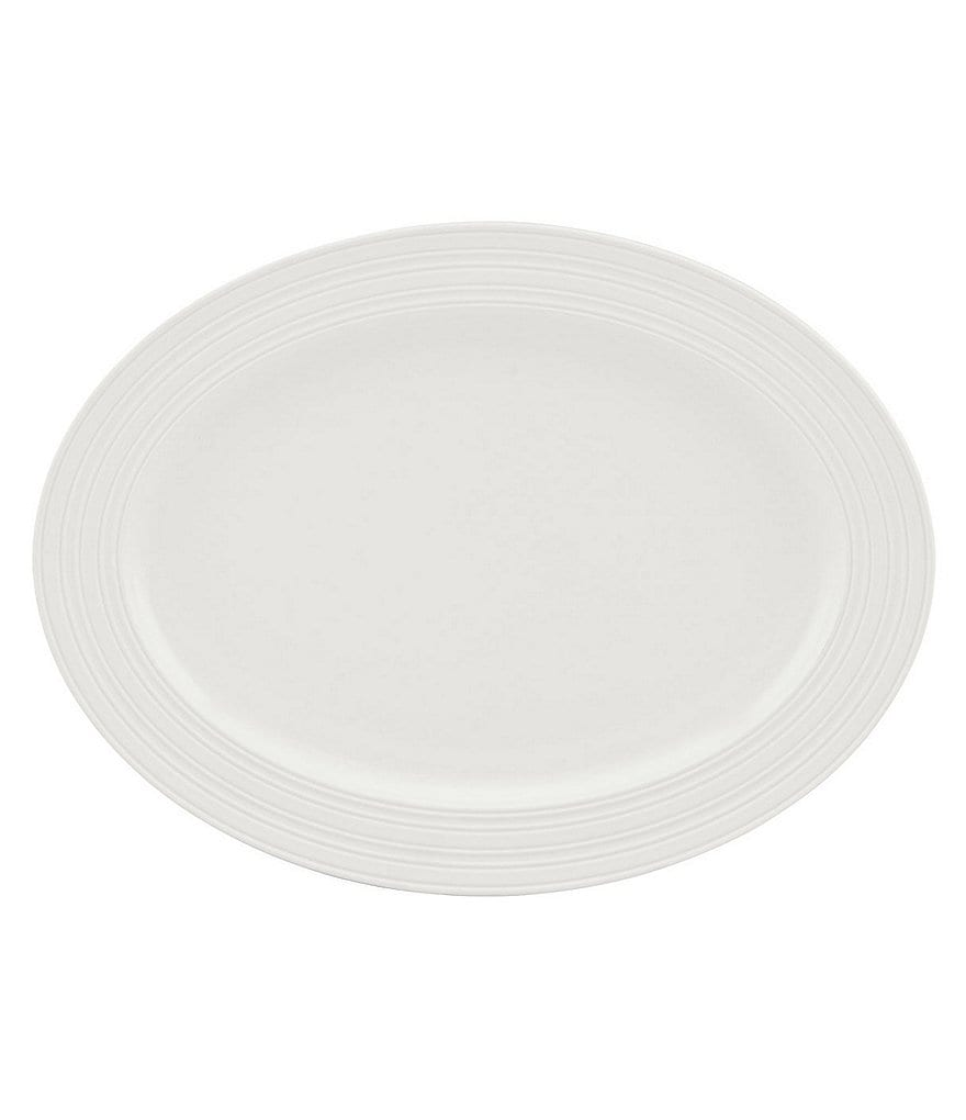 kate spade new york Fair Harbor Channel-Rimmed Stoneware Oval Platter