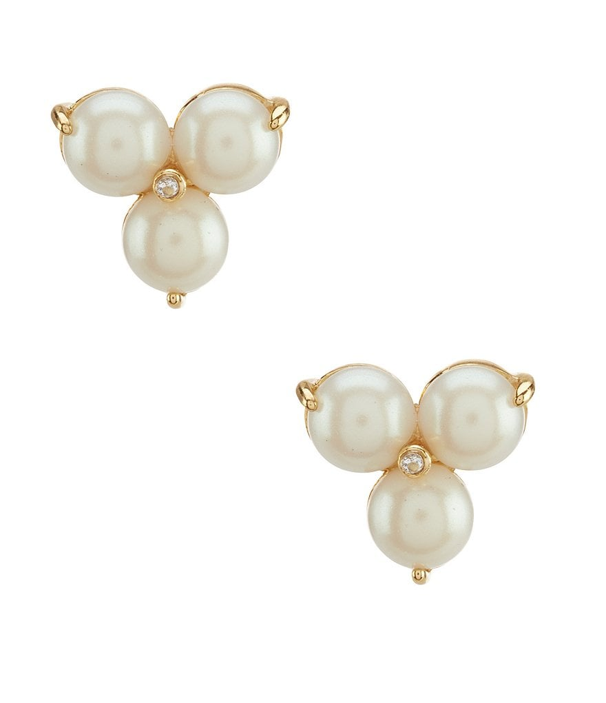 kate spade new york Flying Colors Faux-Pearl Trio Stud Statement Earrings