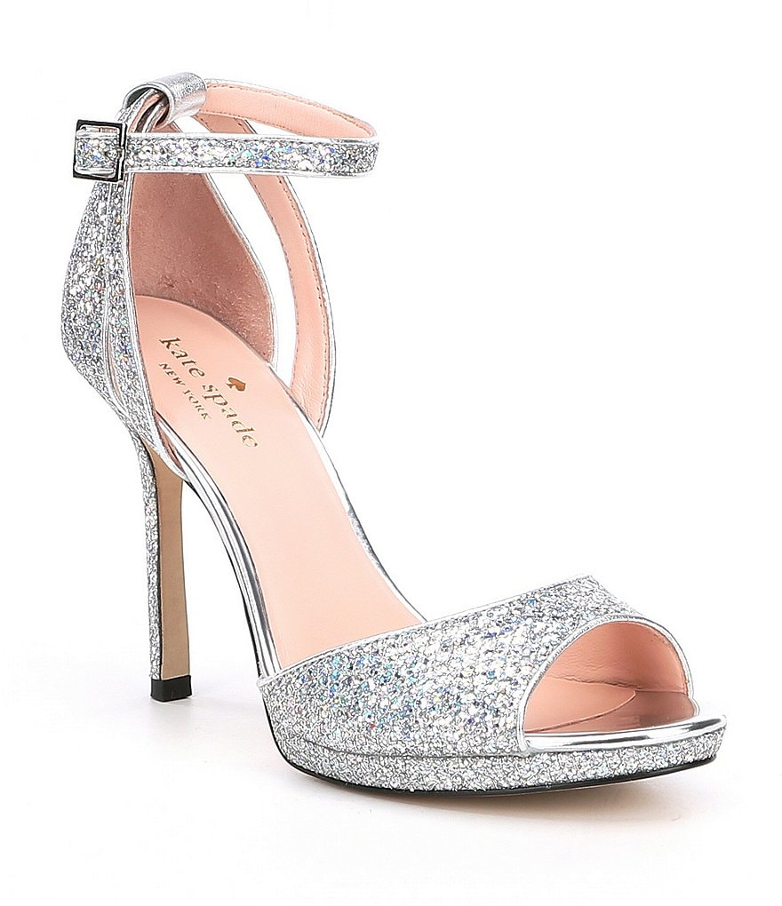 kate spade new york Franklin Glitter Ankle Strap Dress Sandals