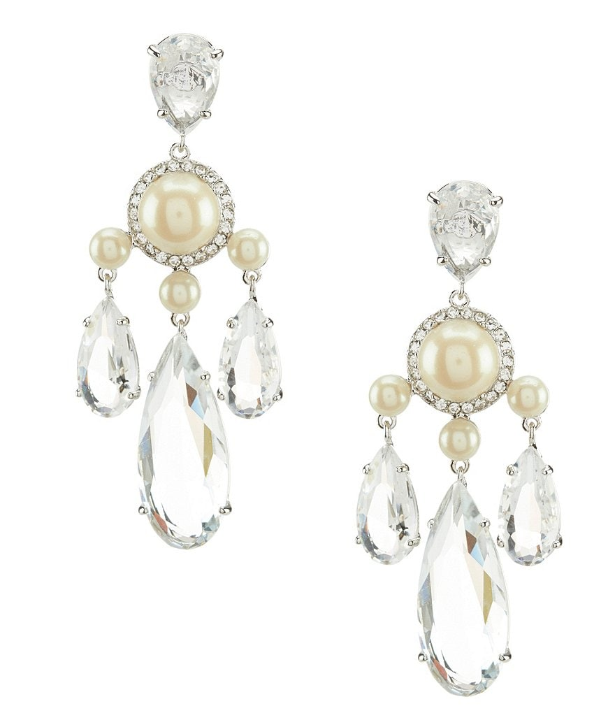 kate spade new york Glitz & Glam Faux-Pearl Chandelier Statement Earrings