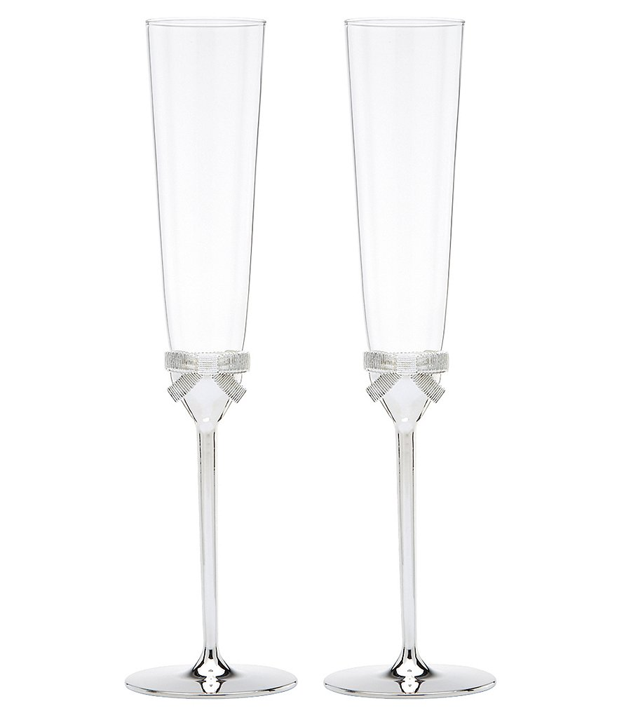kate spade new york Grace Avenue Bow Wedding Toast Flute Pair