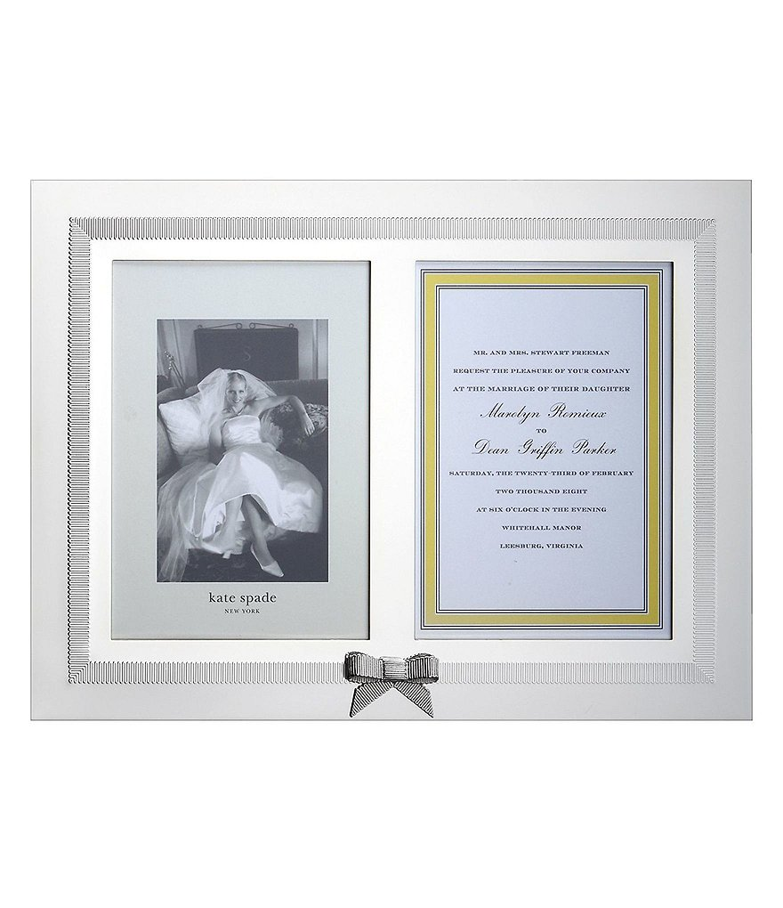 Kate Spade New York Grace Avenue Double 5x7 Invitation Frame