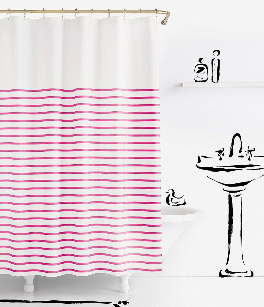 Kate Spade New York Candy Stripe Fabric Shower Curtain Curtain Menzilperde Net