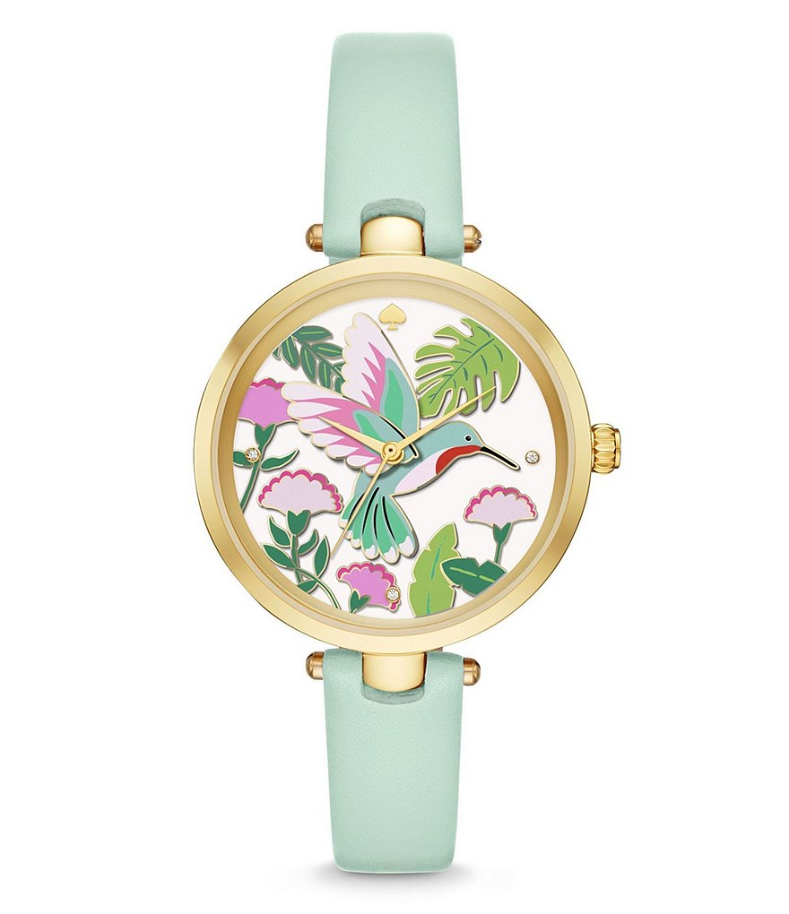 kate spade new york Holland Hummingbird Analog Leather-Strap Watch