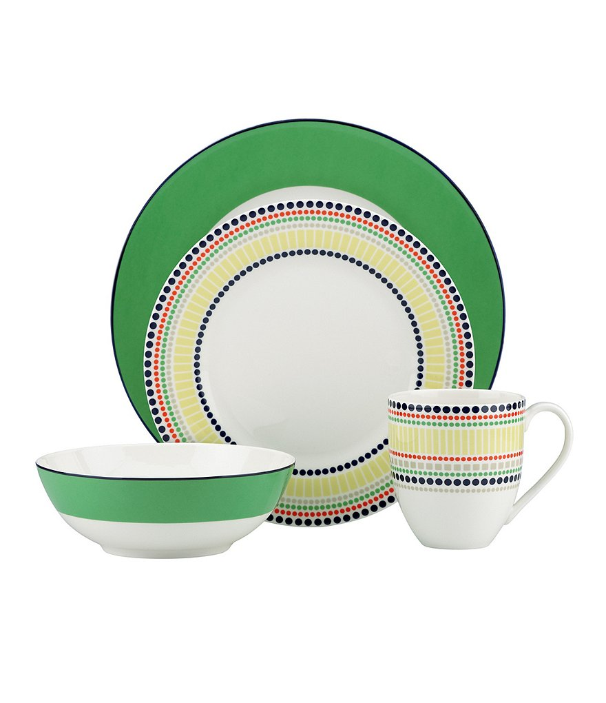kate spade new york Hopscotch Drive Graphic Porcelain 4-Piece Place Setting