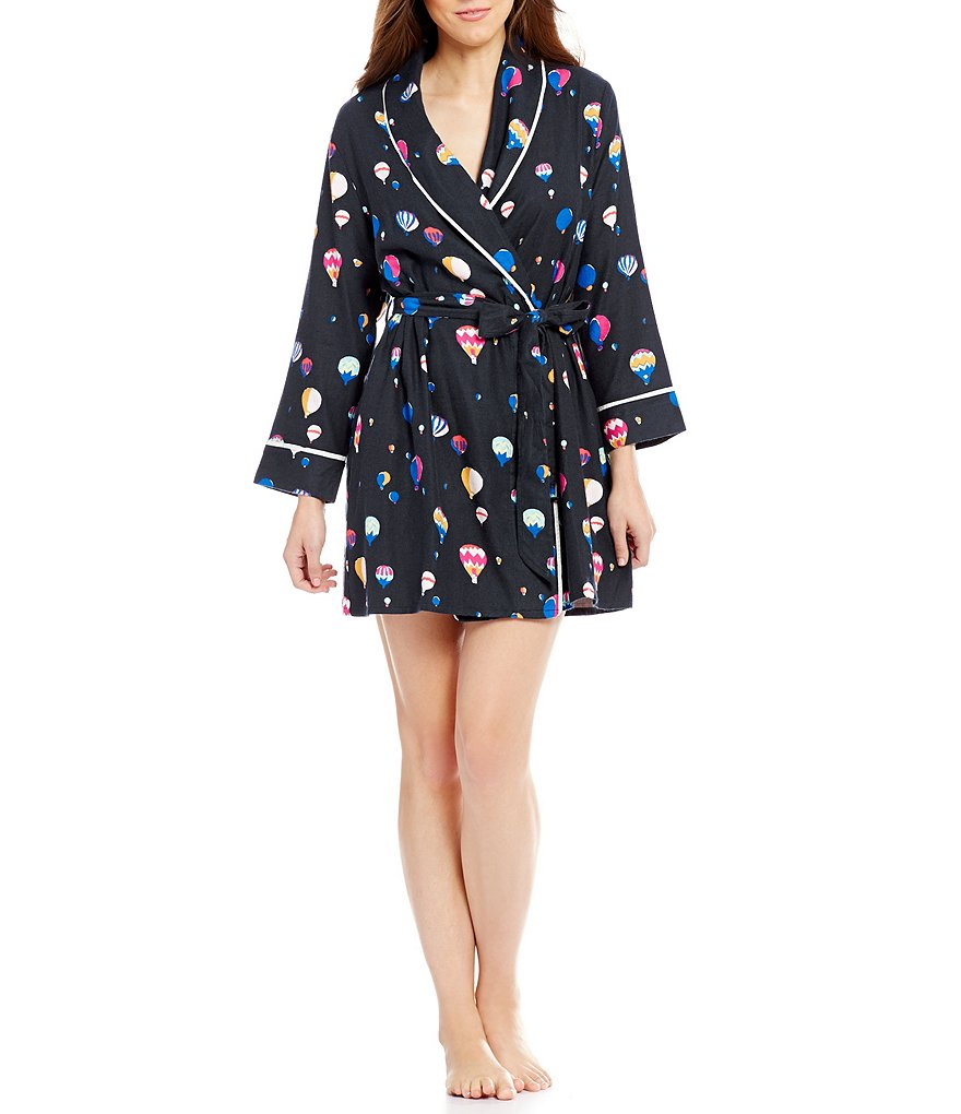 kate spade new york Hot Air Balloon Flannel Wrap Robe