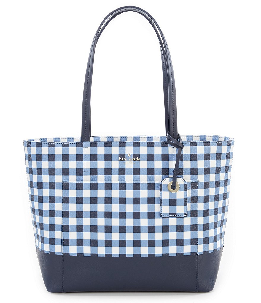 kate spade new york Hyde Lane Gingham Small Riley Tote