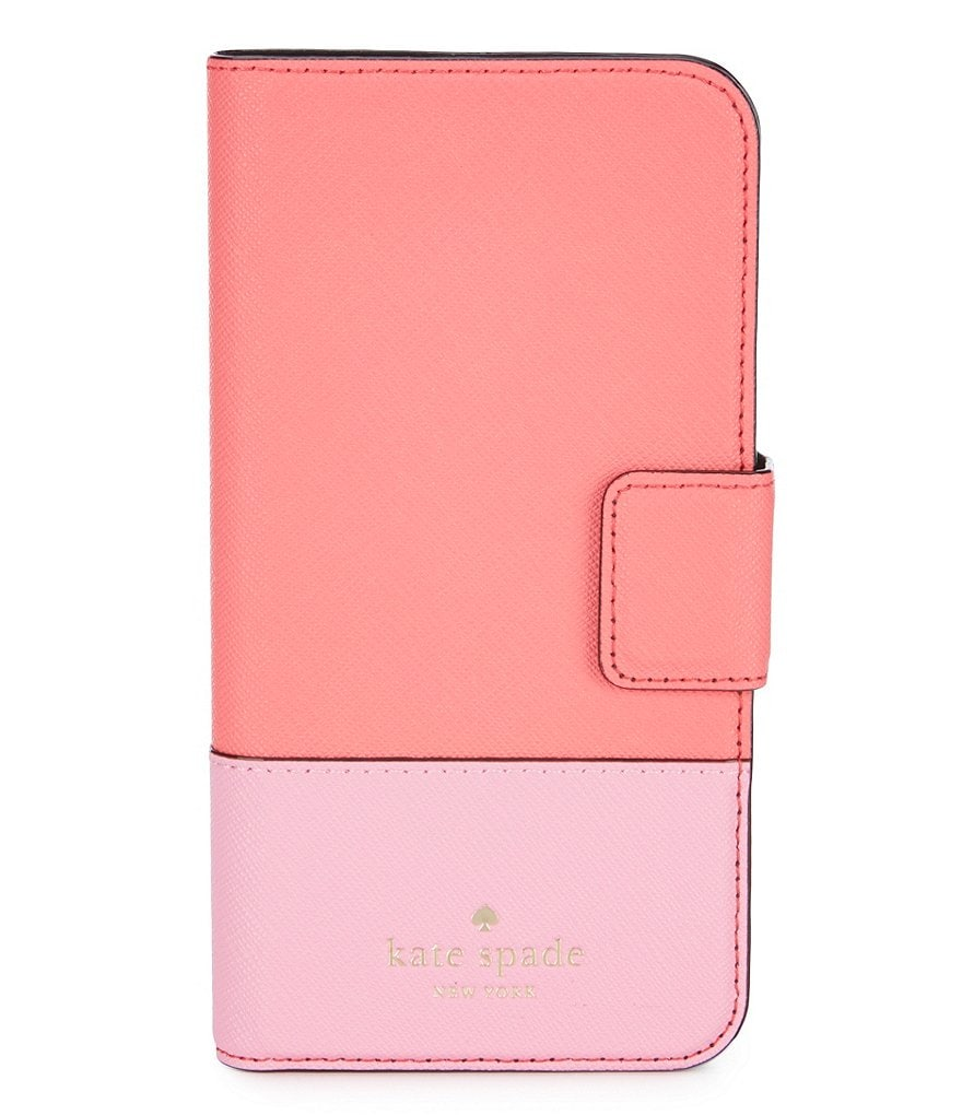 kate spade new york iPhone X Leather Wrap Folio