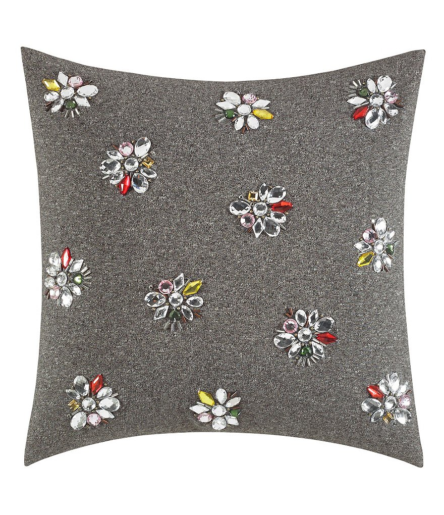 kate spade new york Lacey Daisy Gem Cluster Square Pillow