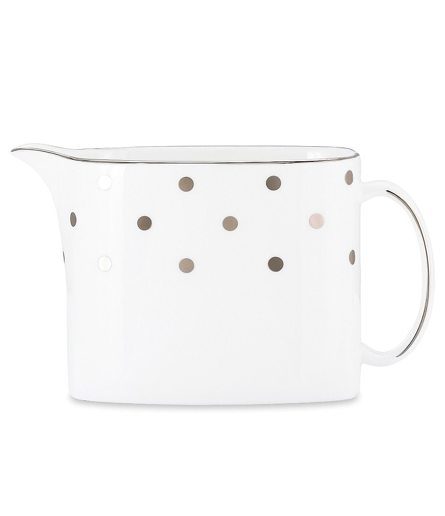 kate spade new york Larabee Road Dotted Platinum Bone China Creamer